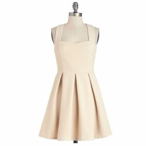 Modcloth: Neutral by Nature Dress, Fit & Flare